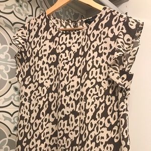 The Limited Animal Print Career Gray Top